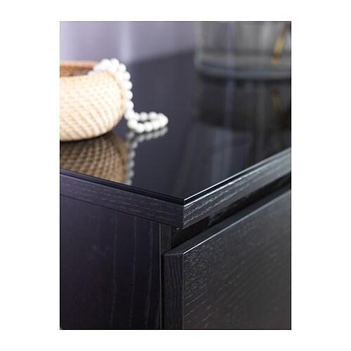 malm glass top transparent grey 80x48 cm ikea. Black Bedroom Furniture Sets. Home Design Ideas