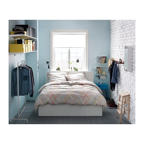 ikea malm ottoman bed under the slatted base which can be lifted