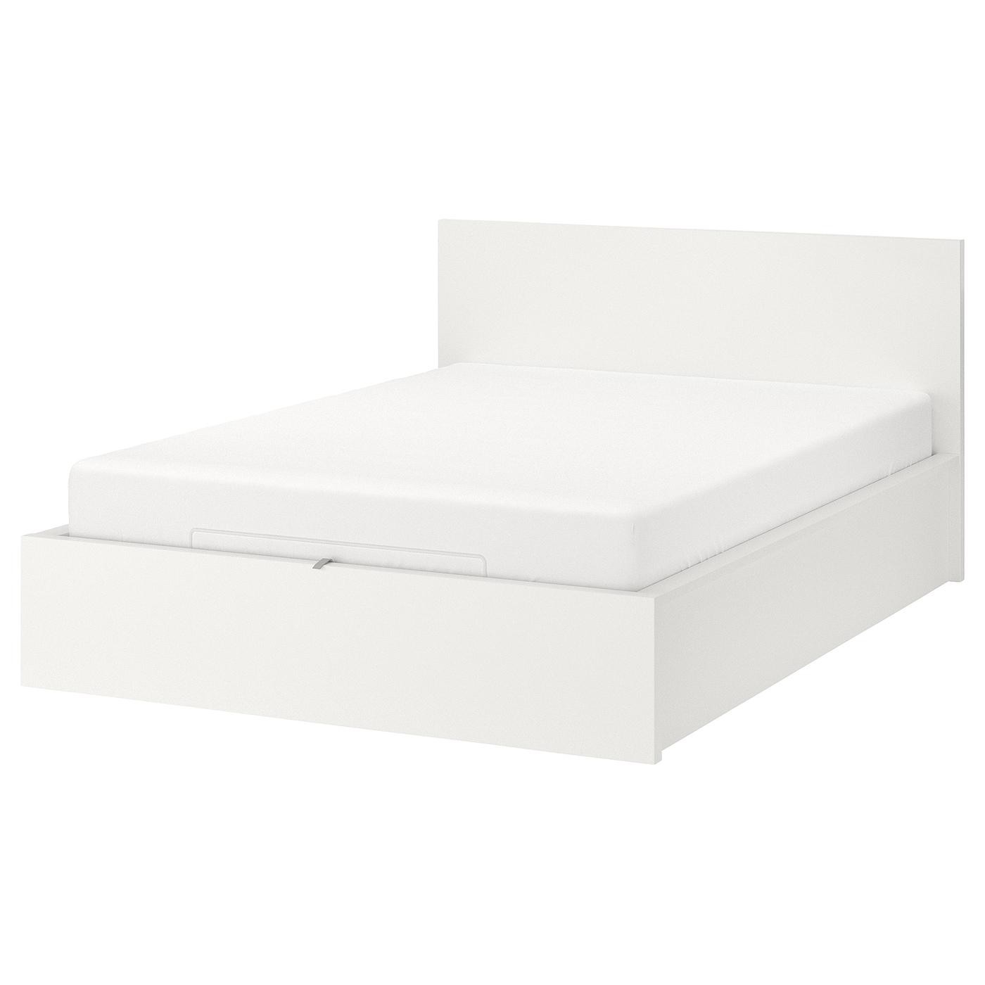 Malm White Ottoman Bed Standard Double Ikea