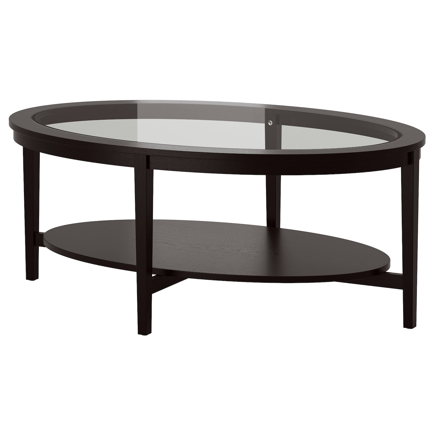 Malmsta coffee table black brown 130x80 cm ikea for Table gigogne ikea