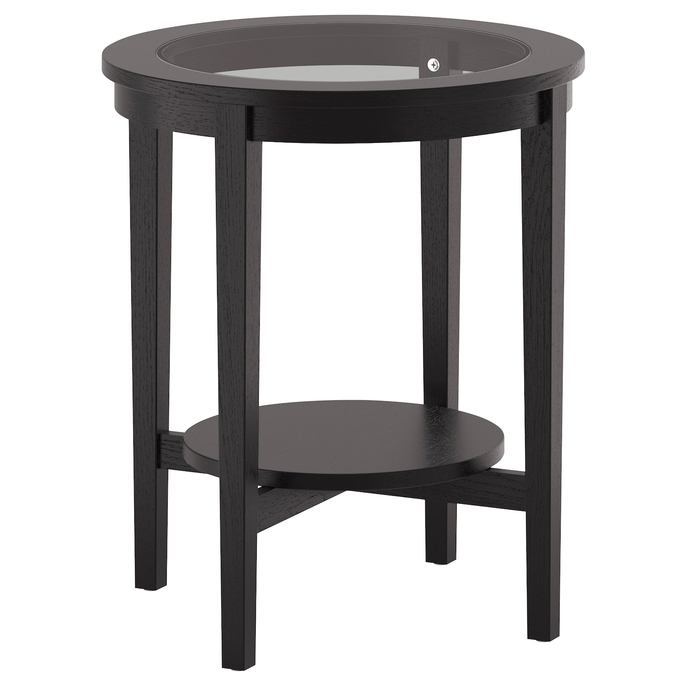 Hemnes Coffee Table Black Brown 90x90 Cm: MALMSTA Side Table Black-brown 54 Cm