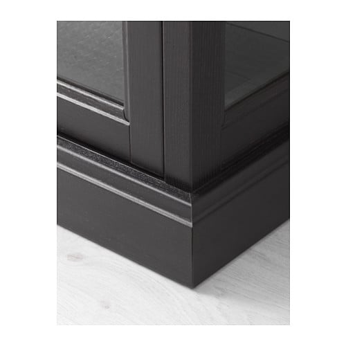 Ilse Crawford Designs For Ikea ~ MALSJÖ Glass door cabinet Black stained 103×141 cm  IKEA