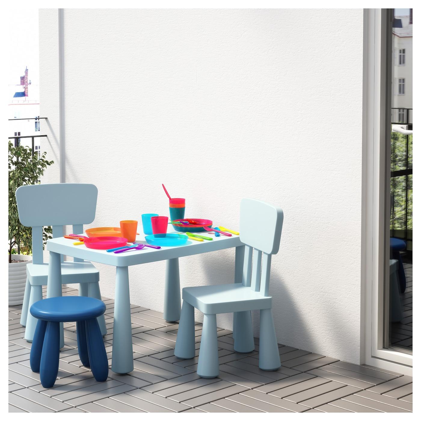 mammut children s chair in outdoor light blue ikea