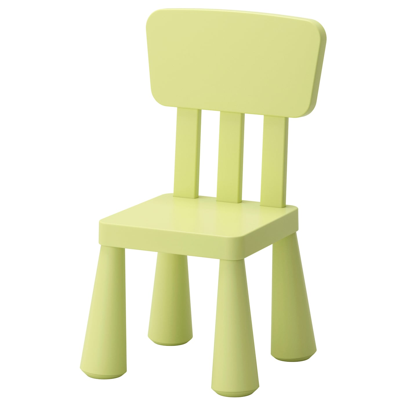 IKEA MAMMUT children's chair Easy to assemble – you just click the components together.