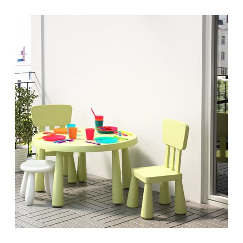 mammut children 39 s chair in outdoor light green ikea