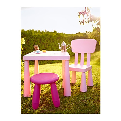Mammut children 39 s chair in outdoor light pink ikea - Tavolini per bambini ikea ...