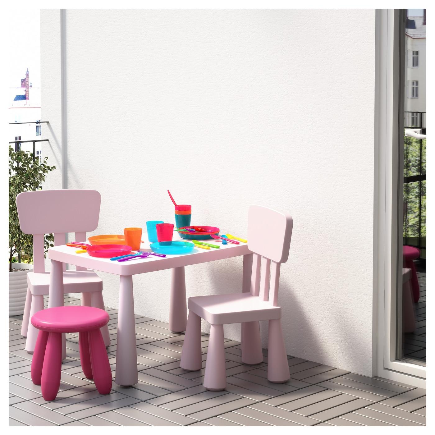 MAMMUT Children s chair In outdoor light pink IKEA