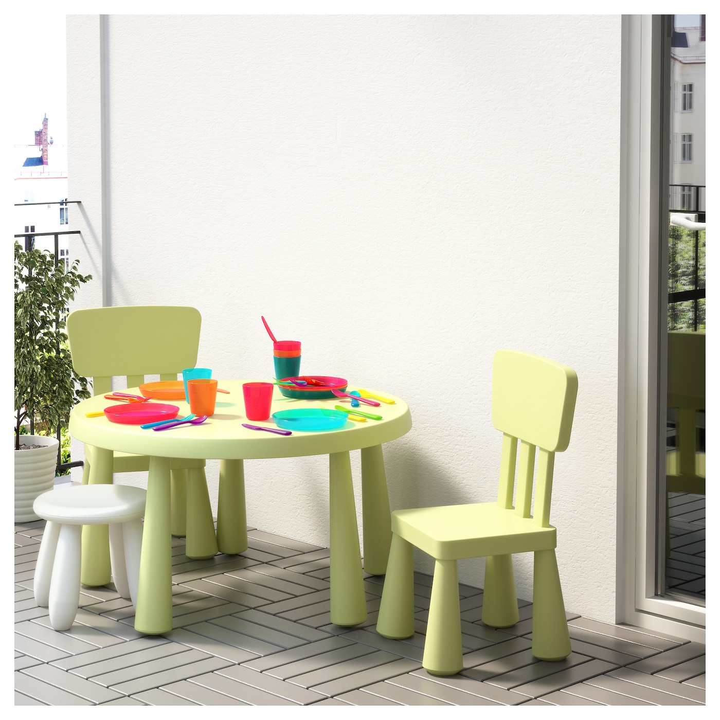 mammut children 39 s stool in outdoor white ikea. Black Bedroom Furniture Sets. Home Design Ideas