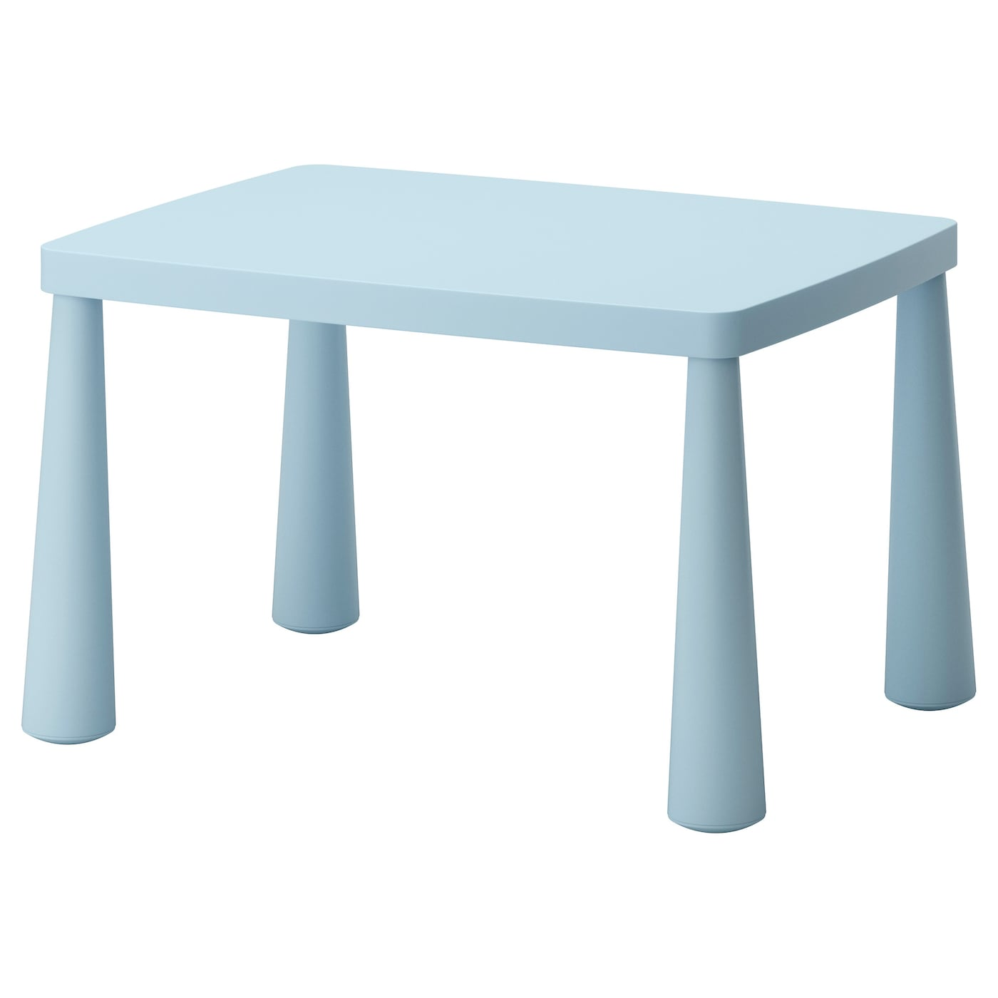 Mammut children 39 s table in outdoor light blue 77x55 cm ikea for Table chaise ikea