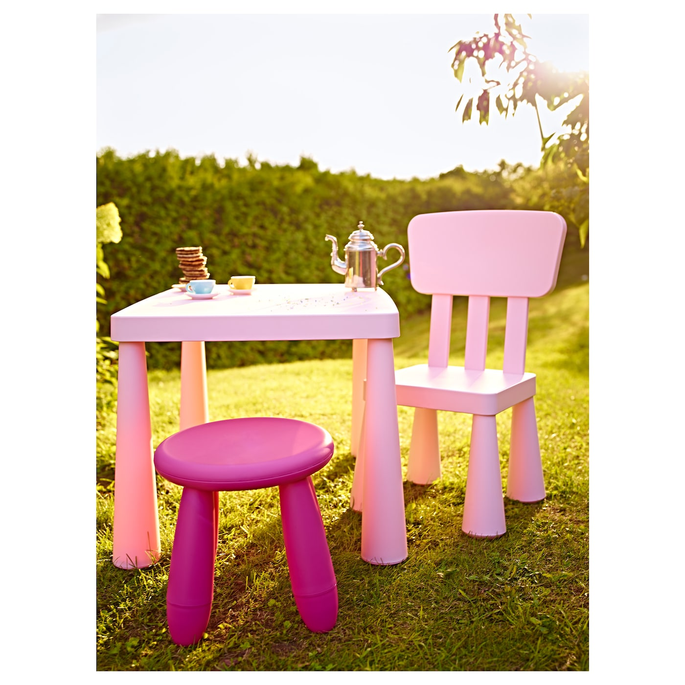 MAMMUT Children s table In outdoor light pink 77x55 cm IKEA