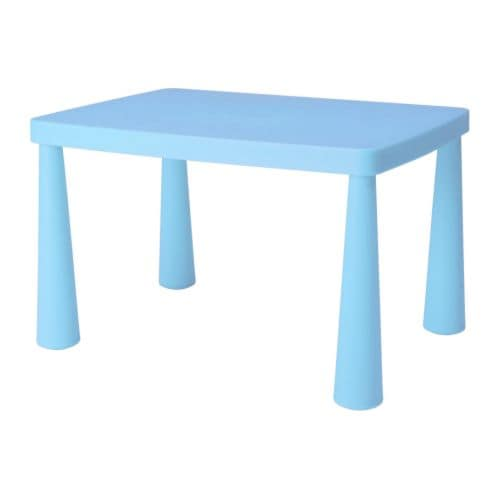 MAMMUT Children's table IKEA Plastic, durable and easy to clean.