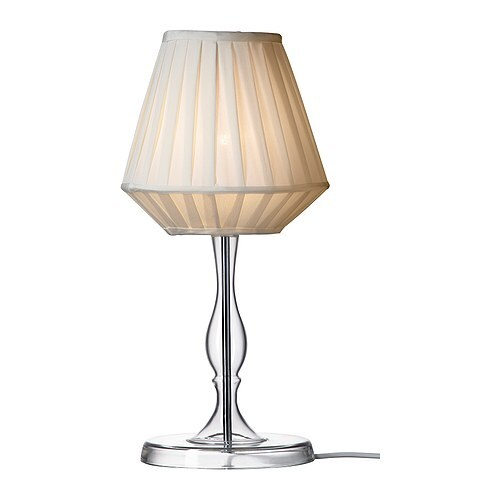MARBY Table lamp IKEA Shade of textile; gives a diffused and decorative light.