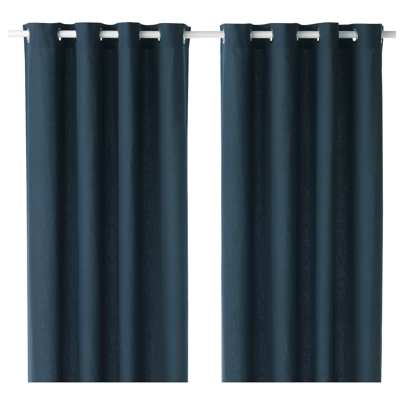 Mariam Curtains Pair Blue Cm Ikea