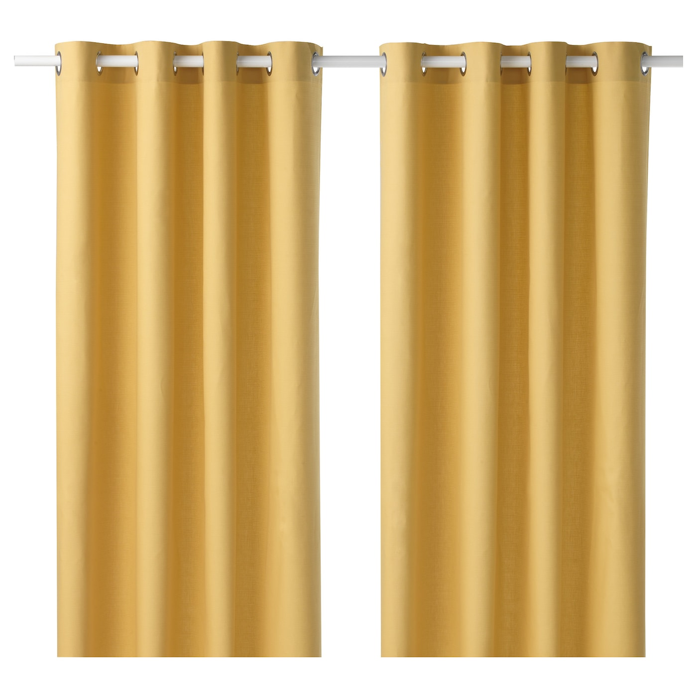 mariam curtains 1 pair yellow 145x250 cm ikea. Black Bedroom Furniture Sets. Home Design Ideas