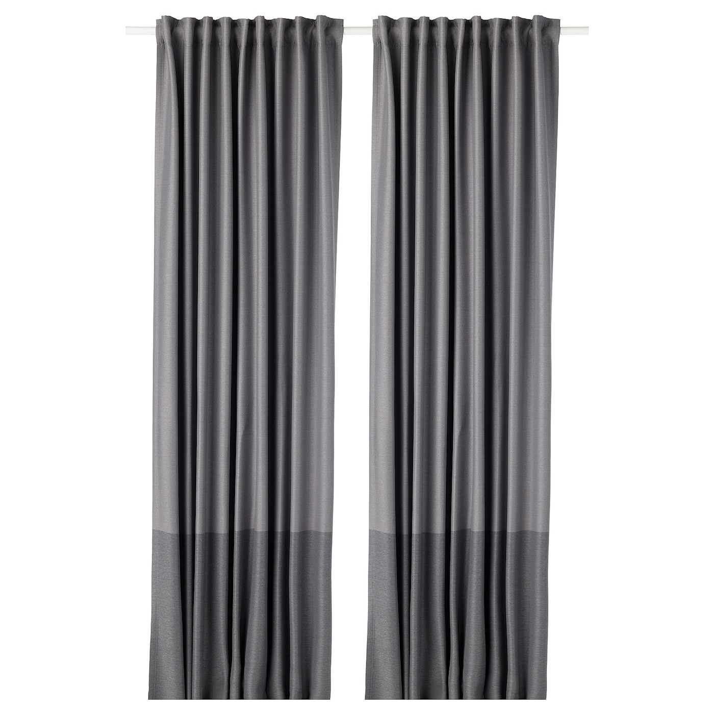 IKEA MARJUN block-out curtains, 1 pair The curtains can be used on a curtain rod or a curtain track.