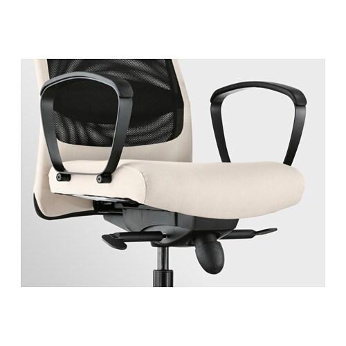Markus Swivel Chair Vissle Beige Ikea