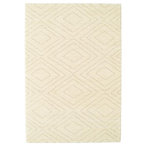 MARSTRUP Rug, low pile, beige, 160x230 cm