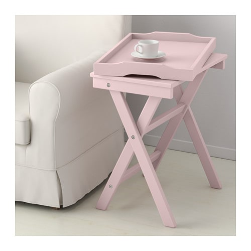 Maryd tray table pink 58x38x58 cm ikea for Ikea green side table