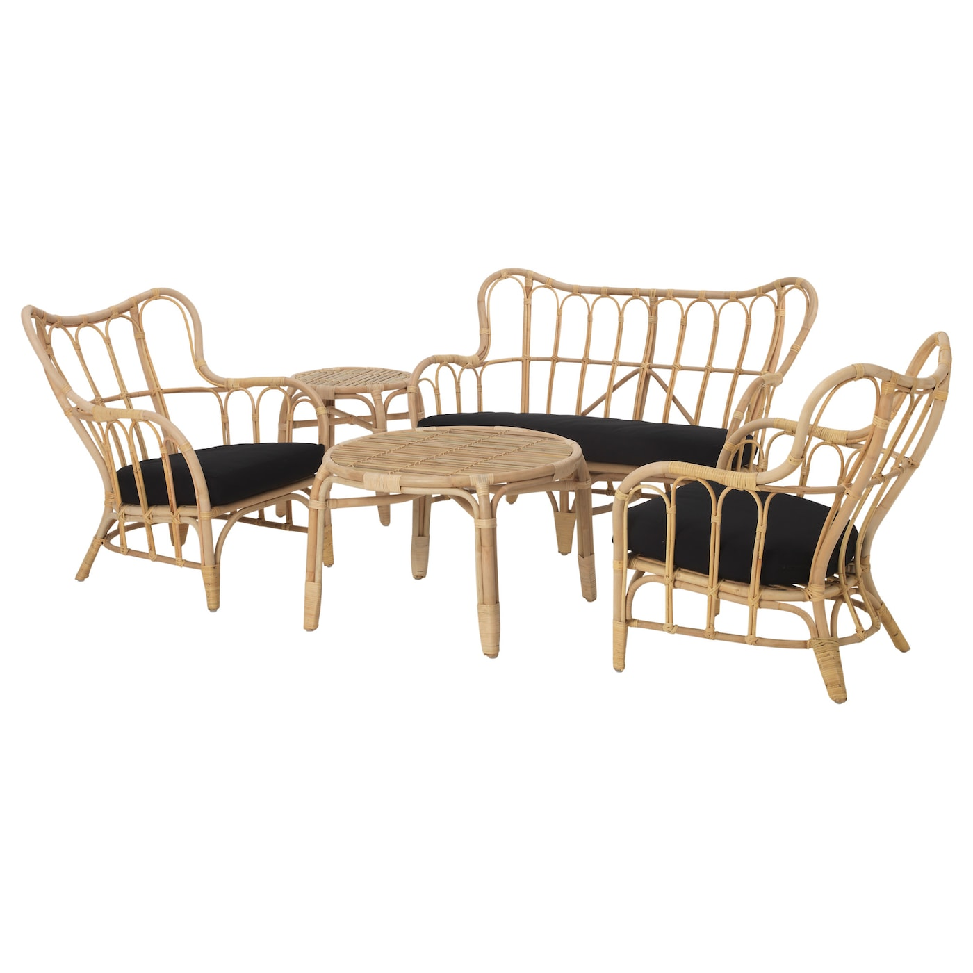 IKEA MASTHOLMEN 4-seat conversation set, outdoor Handmade by a skilled craftsman.