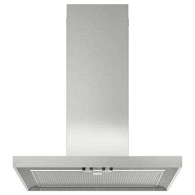 MATÄLSKARE Wall mounted extractor hood, stainless steel colour