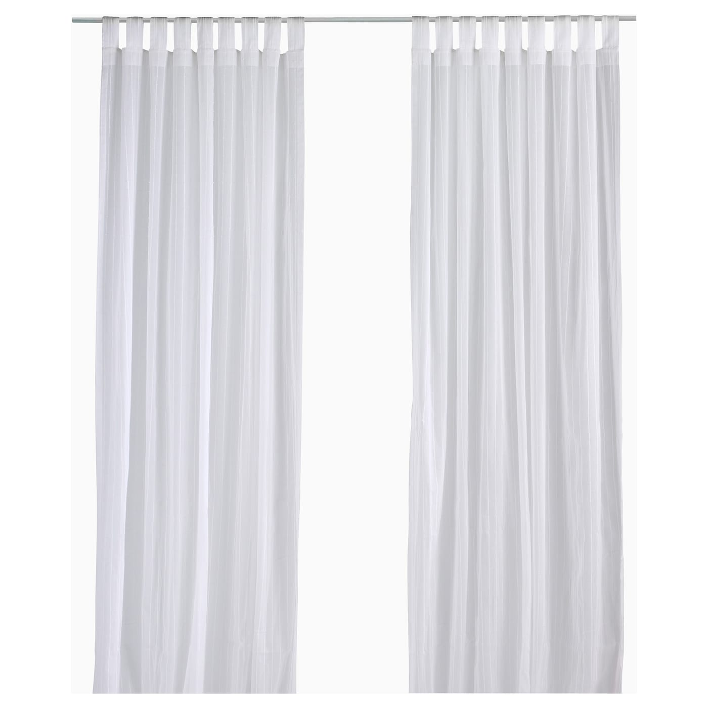 Matilda Sheer Curtains Pair White Cm Ikea
