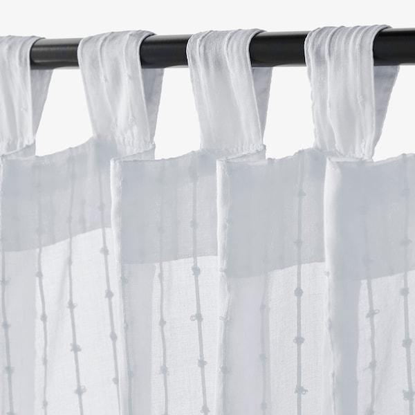 MATILDA Sheer curtains, 1 pair, white, 140x250 cm