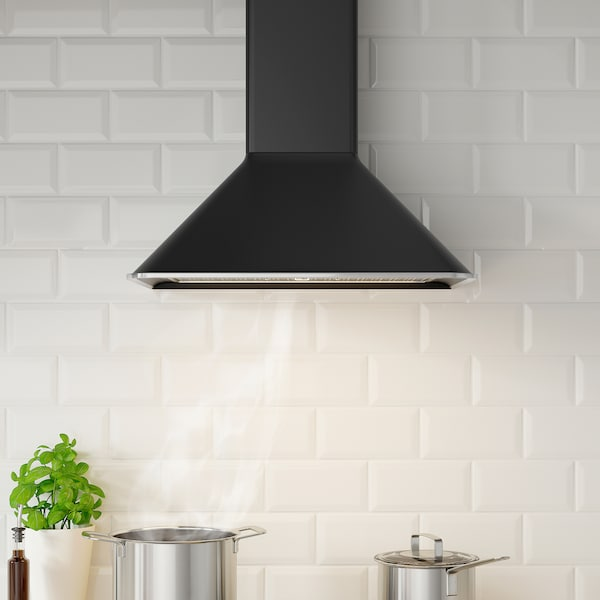 MATTRADITION Wall mounted extractor hood, black, 60 cm