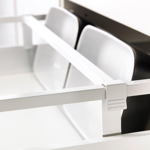 MAXIMERA divider for medium drawer white/transparent 55.6 cm 60 cm 12.3 cm 2.4 cm