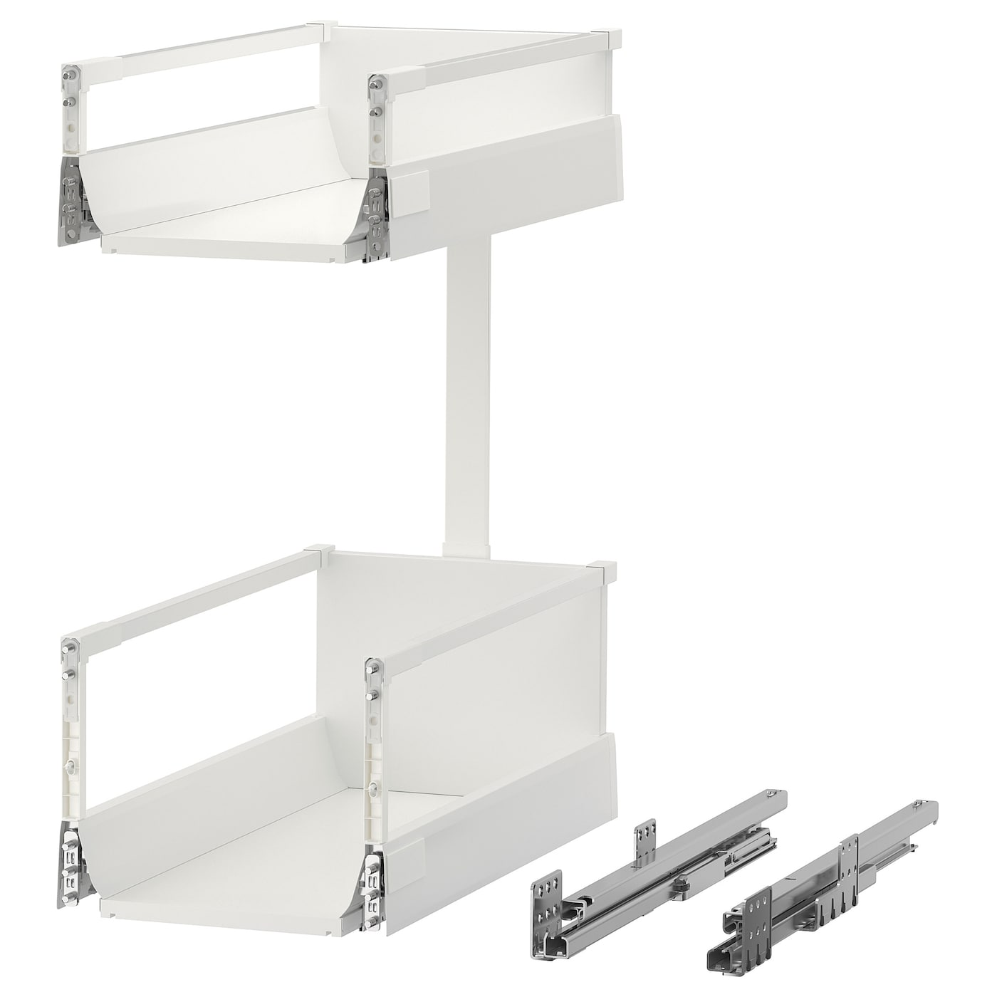 IKEA MAXIMERA pull-out interior fittings Smooth-running drawer with drawer stop.