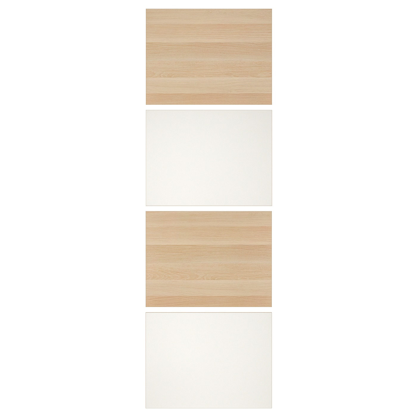 Mehamn White Stained Oak Effect White 4 Panels For Sliding Door Frame 75x236 Cm Ikea