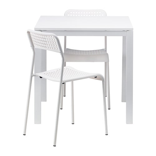 melltorp adde table and 2 chairs white 75 cm ikea. Black Bedroom Furniture Sets. Home Design Ideas