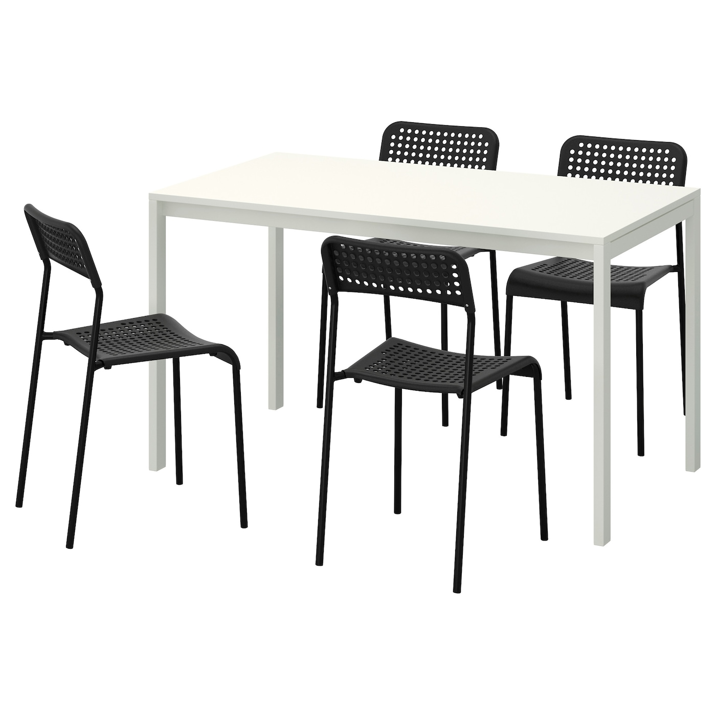 Ikea Melltorp Adde Table And 4 Chairs