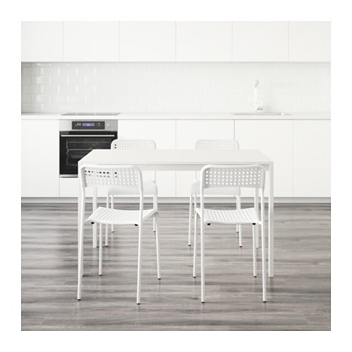 melltorp adde table and 4 chairs white 125 cm ikea. Black Bedroom Furniture Sets. Home Design Ideas