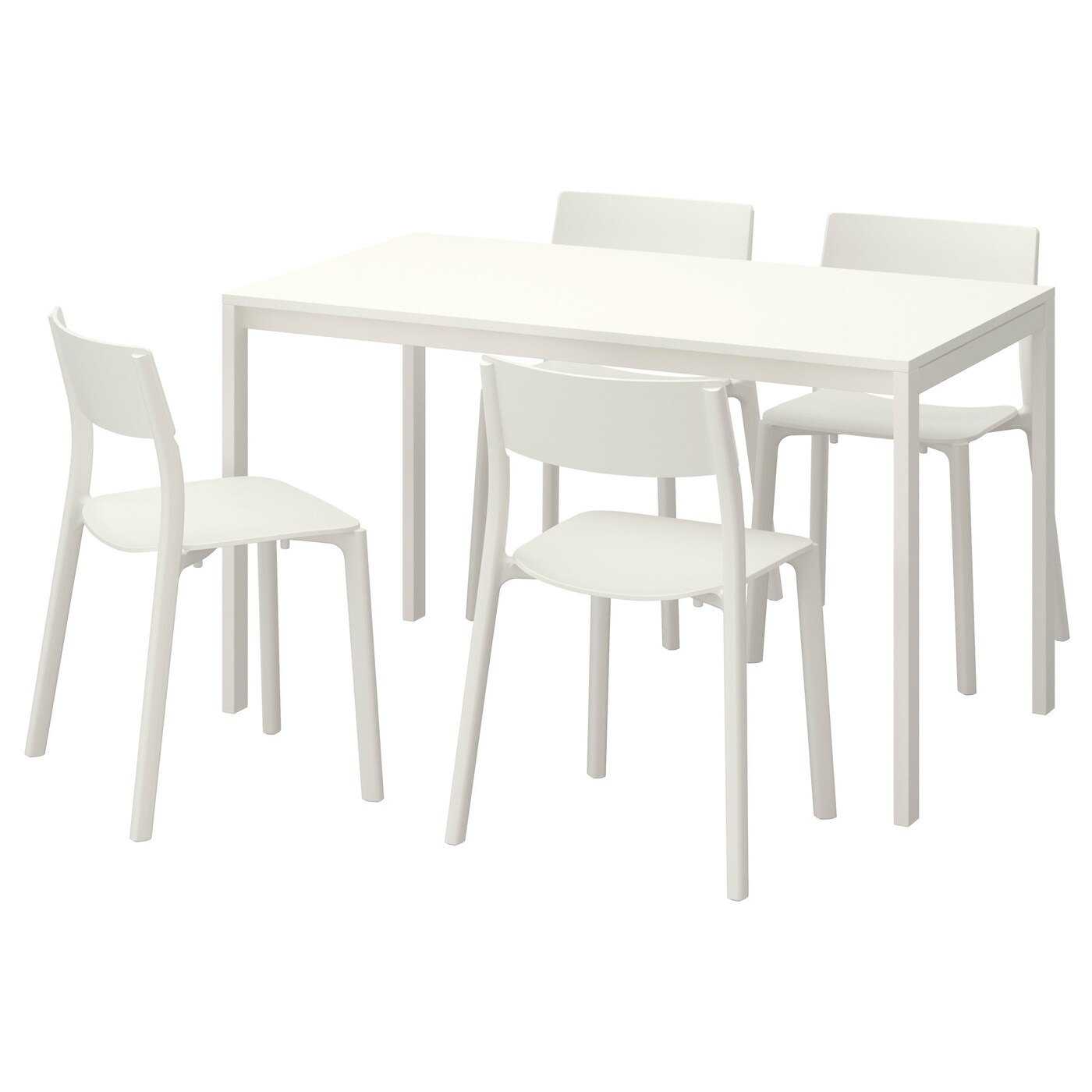 MELLTORP/JANINGE Table And 4 Chairs White/white 125 Cm