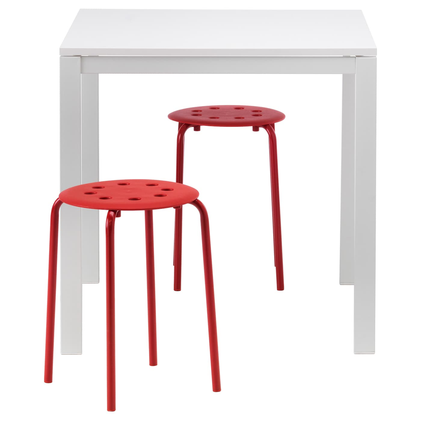 melltorp marius table and 2 stools white red 75 cm ikea. Black Bedroom Furniture Sets. Home Design Ideas