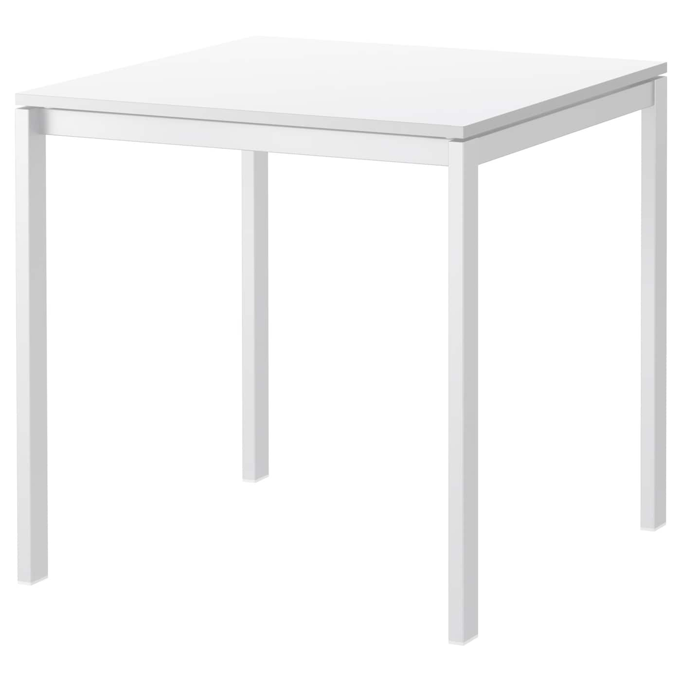 Melltorp table white 75x75 cm ikea for Table extensible 16 personnes