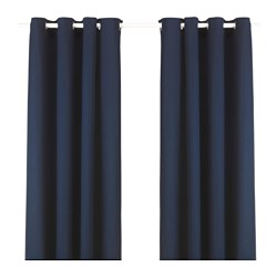 Curtains ready made curtains blackout curtains ikea - Rideaux velours ikea ...