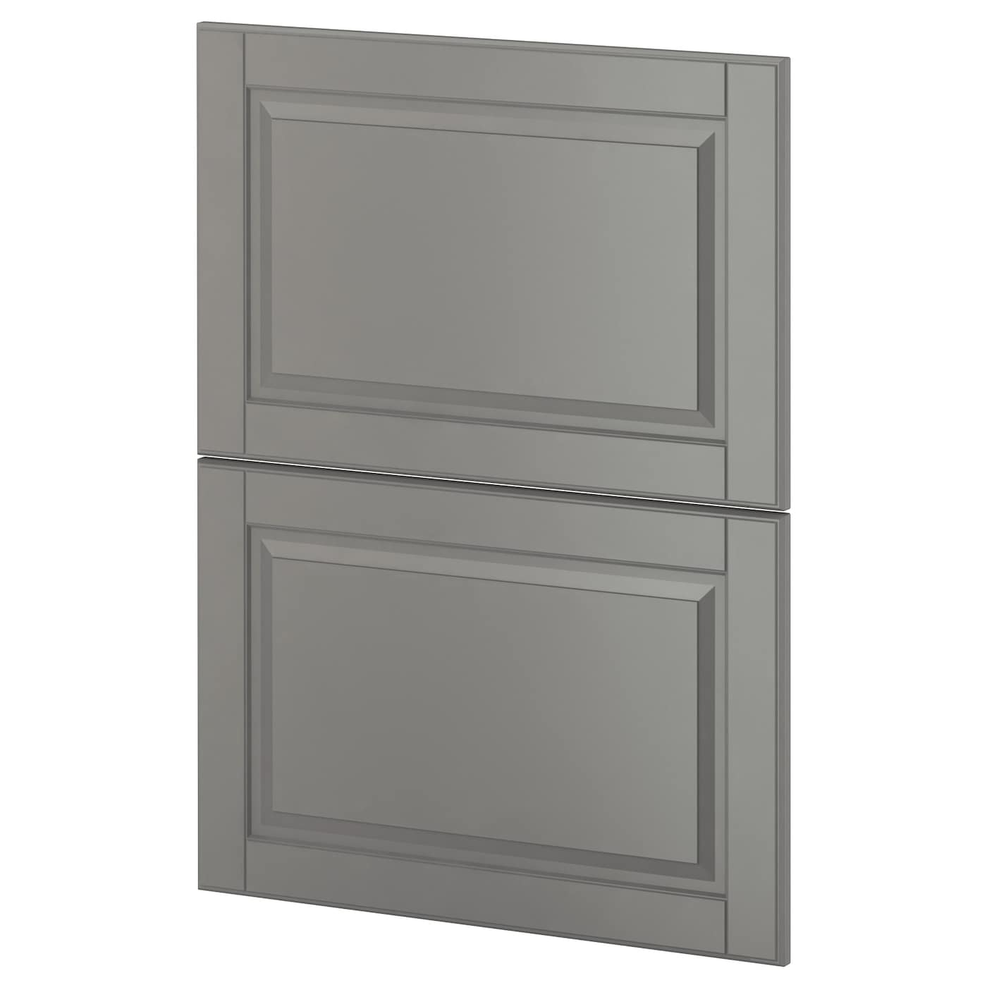 metod 2 fronts for dishwasher bodbyn grey 60 cm ikea. Black Bedroom Furniture Sets. Home Design Ideas