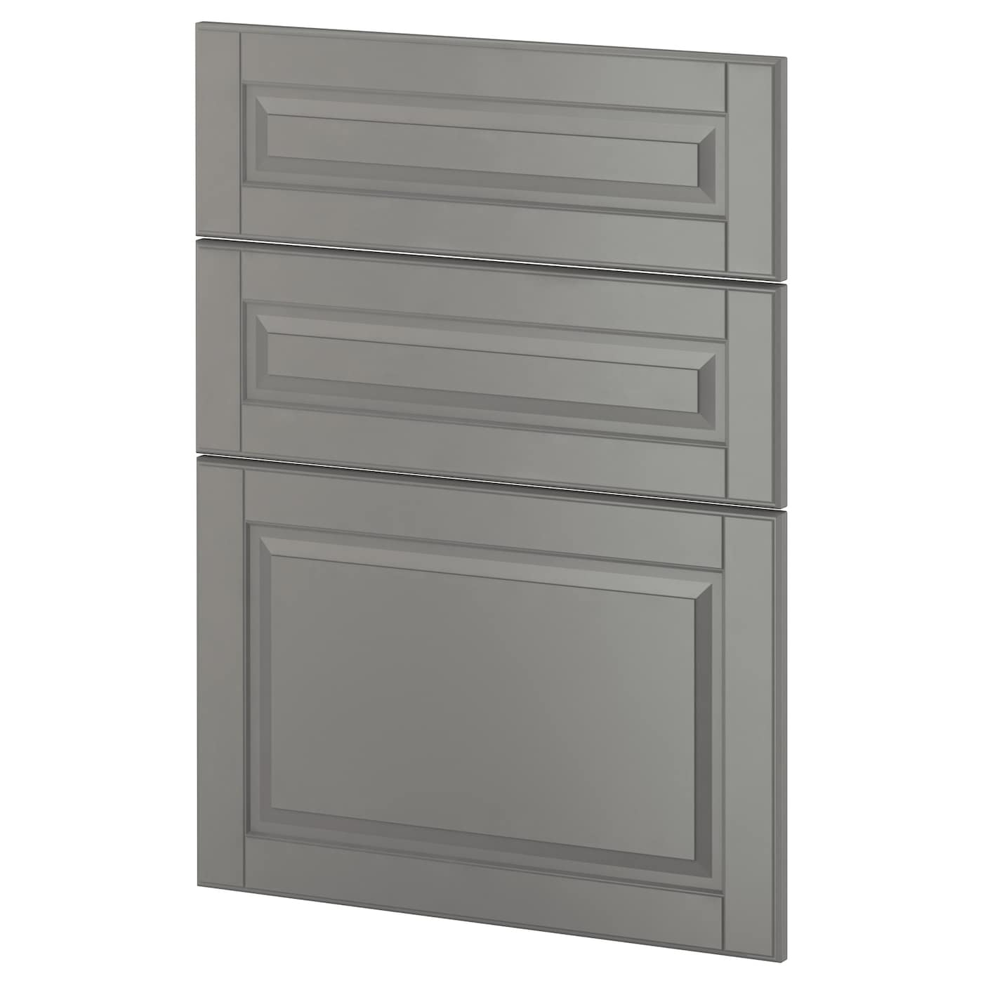 kitchen cabinet doors ikea metod 3 fronts for dishwasher bodbyn grey 60 cm ikea 5338