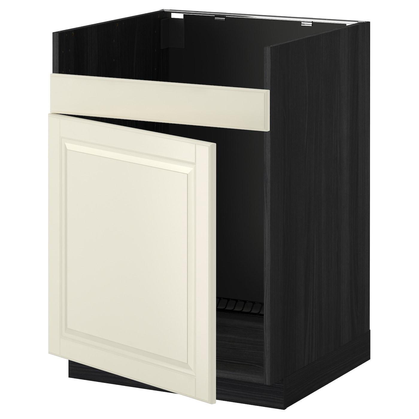 metod base cab f domsj single bowl sink black bodbyn off. Black Bedroom Furniture Sets. Home Design Ideas