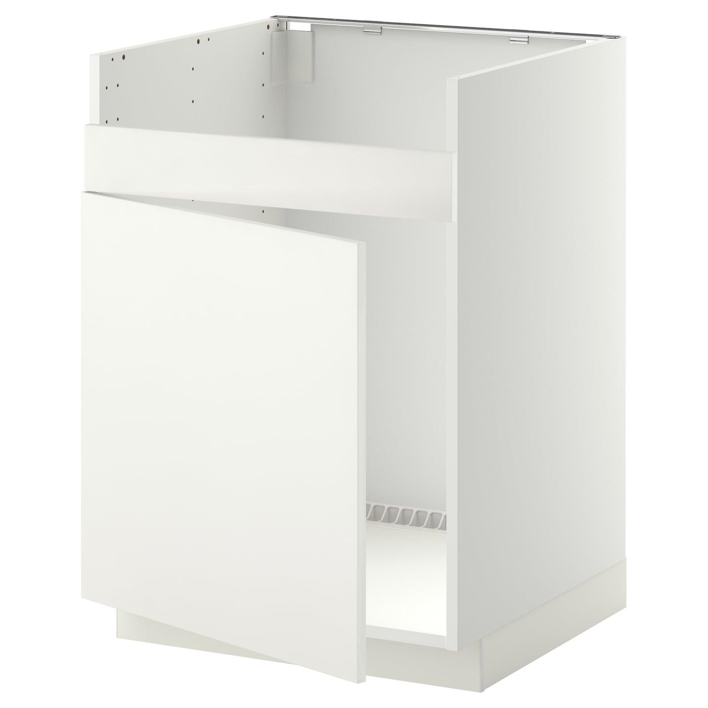 metod base cab f domsj single bowl sink white h ggeby white 60x60 cm ikea. Black Bedroom Furniture Sets. Home Design Ideas