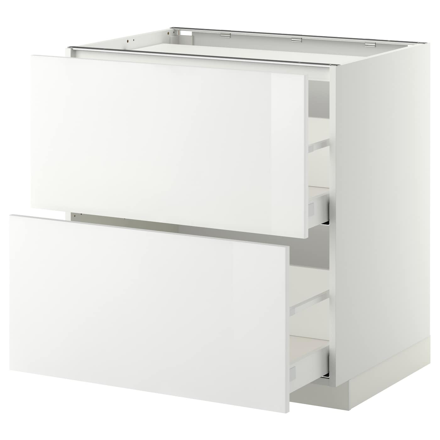 IKEA METOD base cab f hob/2 fronts/2 drawers Smooth-running drawers with stop.