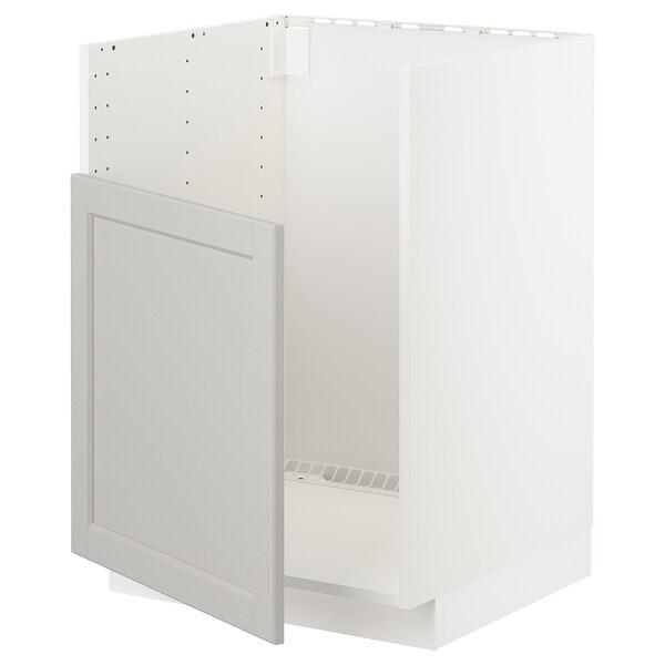 METOD Base cabinet f BREDSJÖN sink, white/Lerhyttan light grey, 60x60 cm