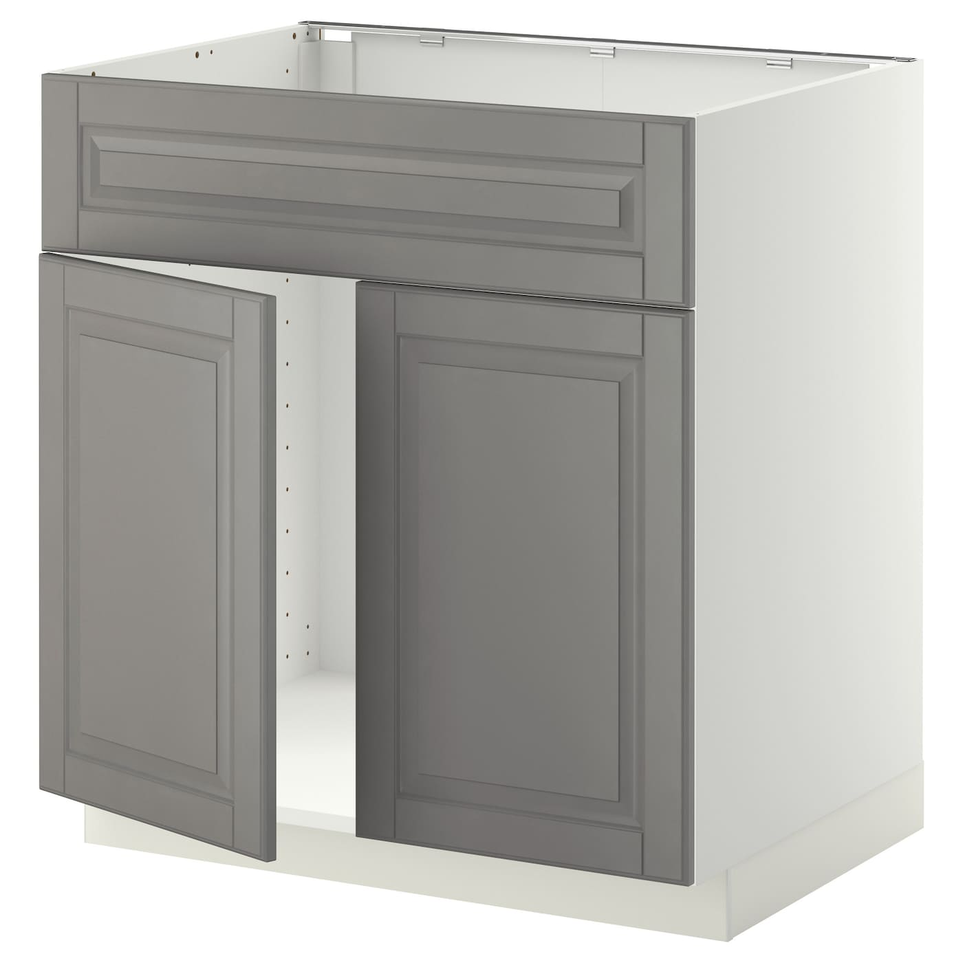 Metod base cabinet f sink w 2 doors front white bodbyn - Ikea cabinet doors on existing cabinets ...