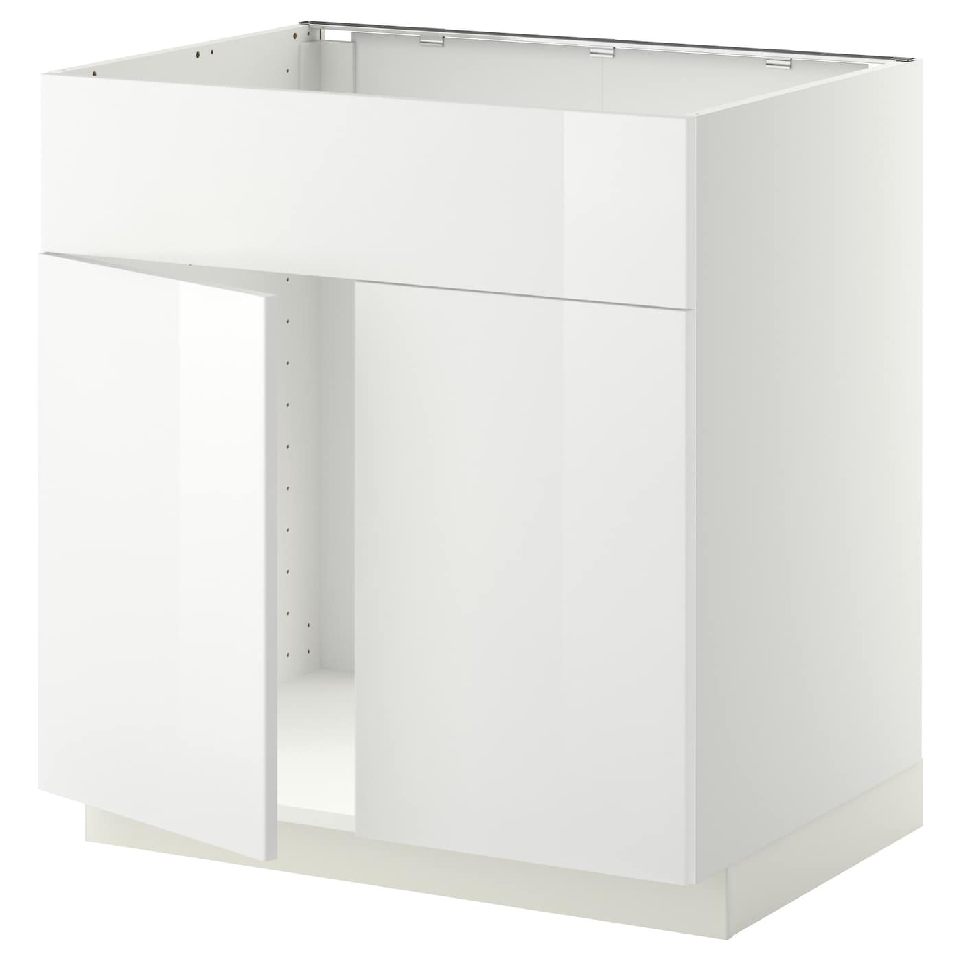 Metod Base Cabinet F Sink W 2 Doors Front White Ringhult