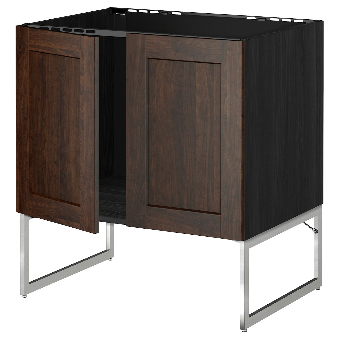 ikea kitchen cabinet construction metod base cabinet for sink 2 doors black edserum brown 17614