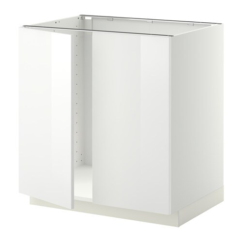 ikea bathroom cabinet white metod base cabinet for sink 2 doors white ringhult white 18809