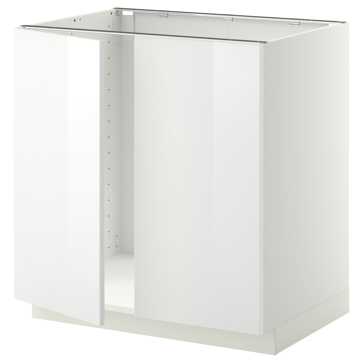 Metod base cabinet for sink 2 doors white ringhult white for Idea kitchen cabinet doors