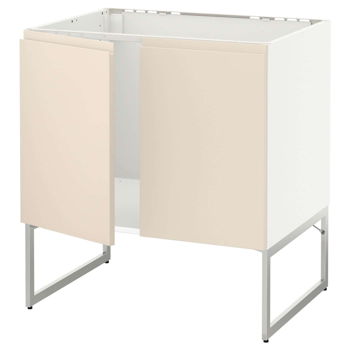 ikea kitchen cabinet construction metod base cabinet for sink 2 doors white voxtorp light 17614