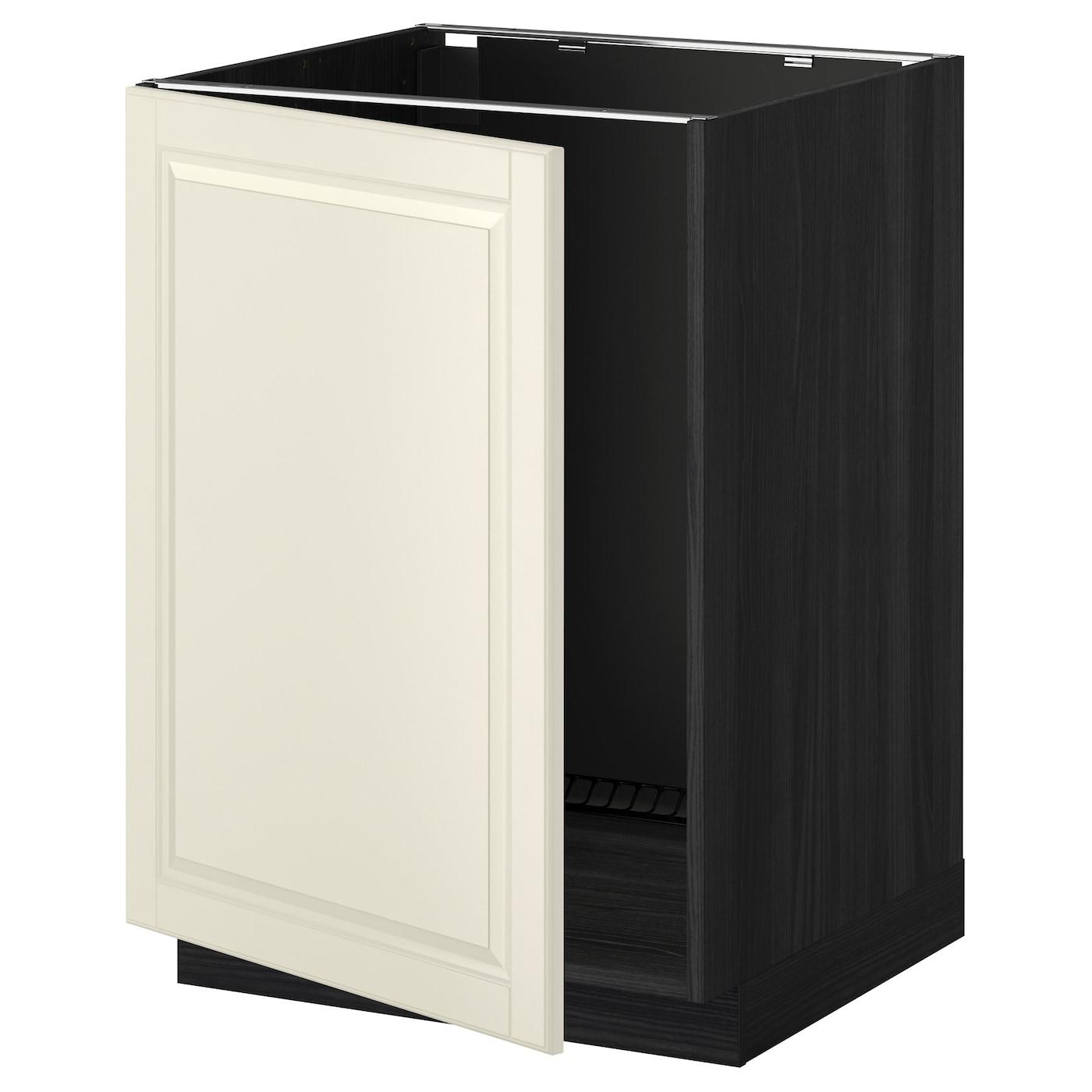 Metod Base Cabinet For Sink Black Järsta Orange 60x60 Cm: METOD Base Cabinet For Sink Black/bodbyn Off-white 60 X 60